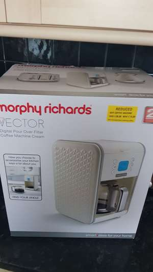 Morphy Richards vector filter coffee machine - £15 instore @ Morrisons (Selby)