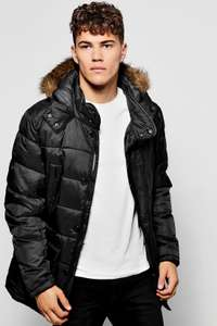 Padded Parka Jacket Only £25 With FREE Delivery (with code) @ Boohoo Man