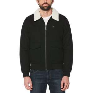 PENGUIN SHERPA COLLAR WOOL BLEND JACKET Reduced to £49.95 Delivered From £150 At Penguin Online