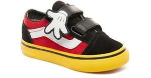 Vans toddler suede monster face shoes £18.50 / Kids Vans t-shirts £8 / Disney Minnie bow shoes £25.90 free delivery @ Vans
