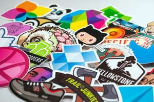 """10 Custom 3"""" x 3"""" die cut stickers approx 80p delivered (Usually around £12) @ Stickermule"""