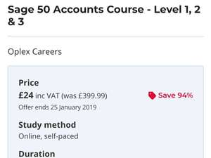 Training for Sage 50 down to £24 @ Reed