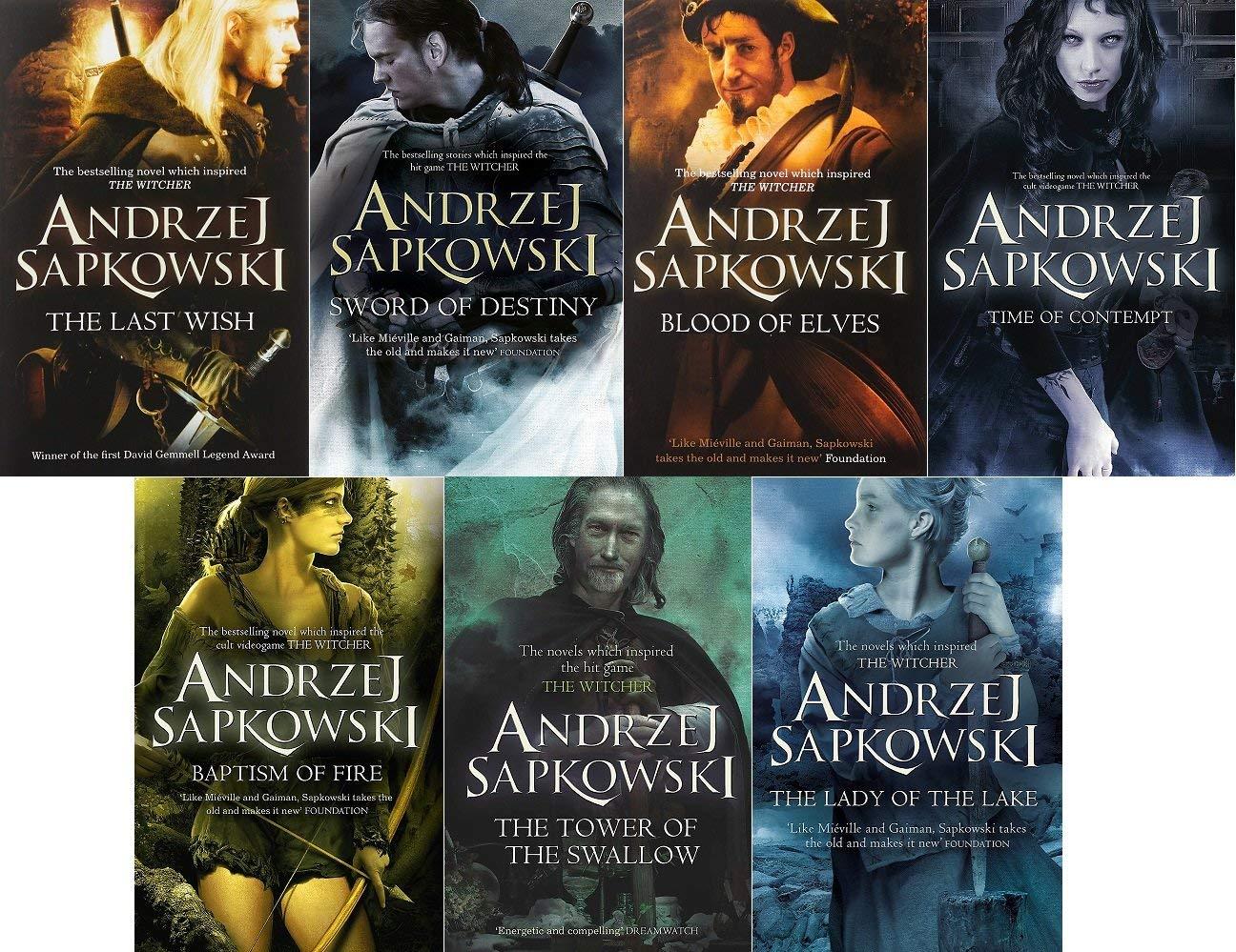 Andrzej Sapkowski 7 Book Set Collection (Witcher Series) £20.99 @ smeikalbooks / Amazon