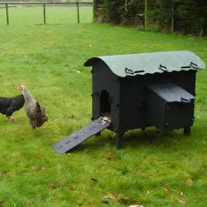 Tough Plastic recycled hen houses from £210 delivered @ solway recycling