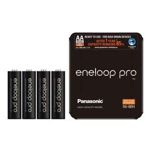 Panasonic Eneloop Pro AA 2500mAh Rechargeable Batteries- 4 Pack with Storage Case £11.99 @ 7DayShop