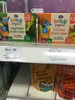 Boots baby organic stock cubes - 39p instore @ Boots