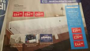 Lidl (instore) - Meradiso 7 zone mattress single double and king-size various prices - from £64.99
