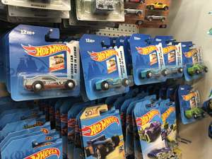 Hot wheels wooden cars - train track compatible - £1 @ Poundland
