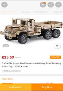 """Lots of 2.4Ghz R/C """"DeTECH"""" ABS Building Block Models ~35-45% off @ GearBest App - Military Truck £25.33"""