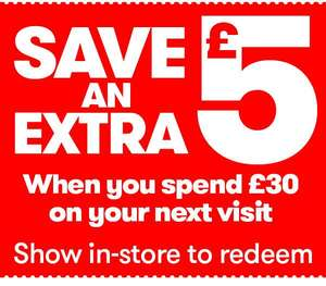 £5 off £30 spend at JTF