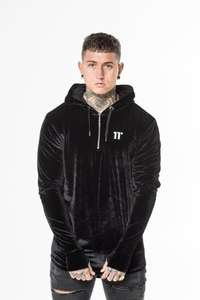 11 degrees Quarter Zip Oversized Pullover Hoodie - £13.34