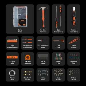 128pc Household Tool & Fixtures Kit £17.99 Delivered @ Domu