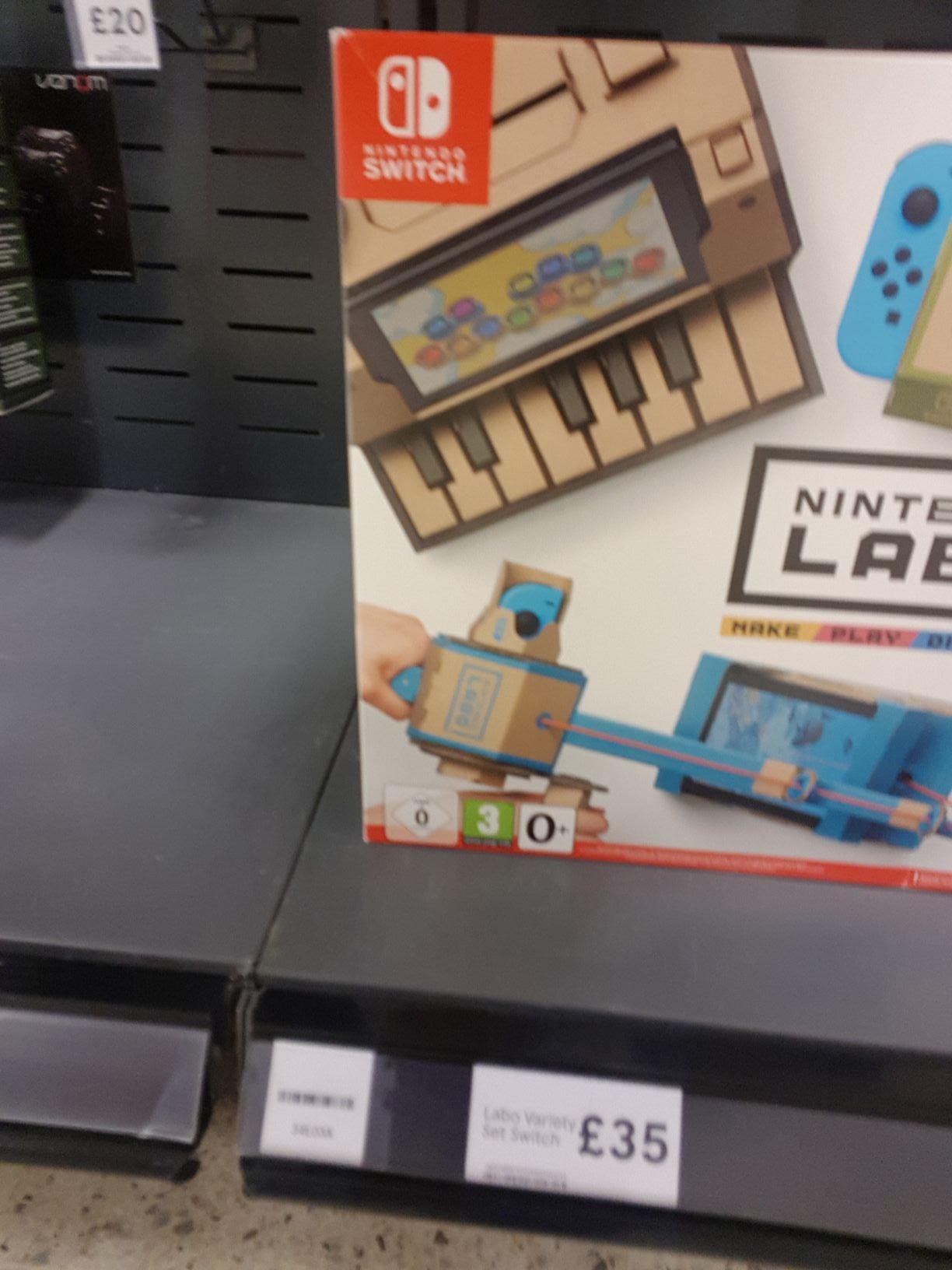 Instore Tesco Bangor NI. Nintendo Labo Variety kit £35