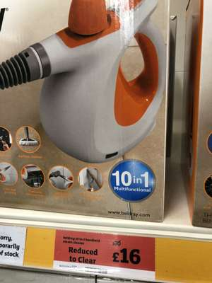 Beldray 10 in 1 handheld steam cleaner £16 - in store @ Sainsbury's - Guildford