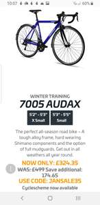 Ribble 7005 Audax Winter Training Bike Sora R3000 size 50 & 52 only £324.35 @ Ribble cycles