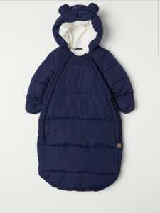 Baby padded footmuff £8 free delivery for H&M members @ H&M