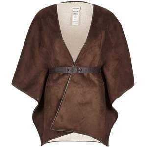 River island faux shearling cape with belt £5.39 with code W40 (+3.95 p&p) @ Bargain Crazy