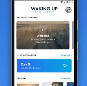 Free access to 'Waking Up - Mindfulness Meditation' App for those that can't afford it (or don't find it valuable)