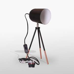 Black And Copper Tripod Lamp @ P&N Homerwares £19 Delivered