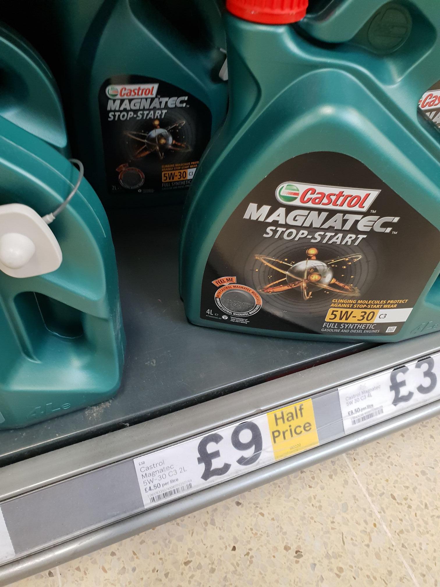 Castrol Magnatec Stop-Start 5W-30 C3 2L Oil was £18 now £9 @ Tesco