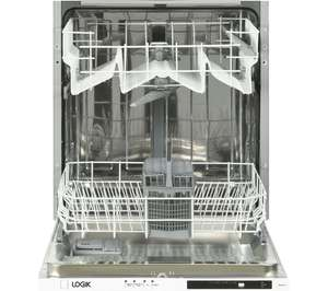 LOGIK LID60W18 Full-size Fully Integrated Dishwasher £150 @ Currys