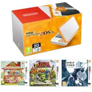 Nintendo 2DS XL White, Animal Crossing Happy Home Designer, The Legend of Zelda: Triforce Heroes, Bravely Second: End Layer £129.99 @ Game