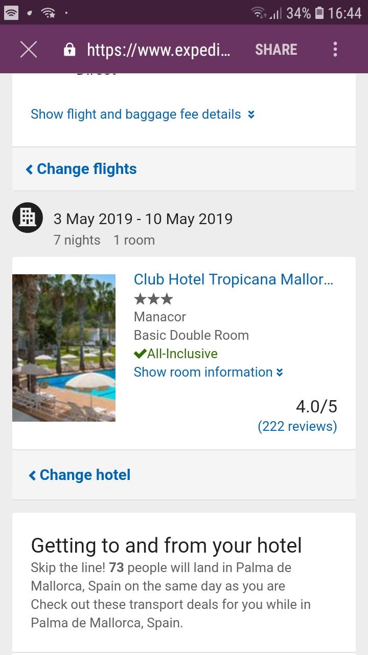 1 week all inclusive in Majorca ex Belfast in May