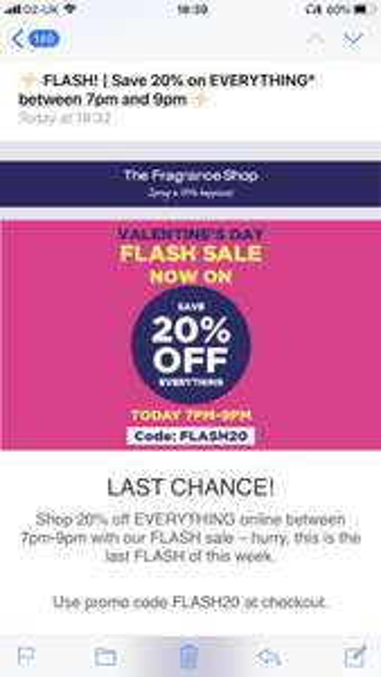Fragrance Shop 20% off everything