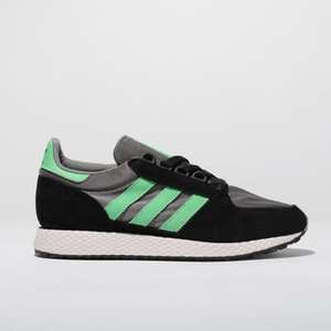 Adidas Black & Green Forest Grove Trainers Size 7 up to 11 £23.99 @Schuh £1 delivery or Free c&c
