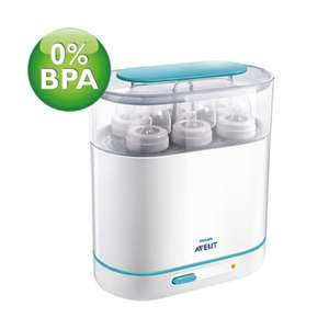 Philips Avent 3 in 1 Baby Bottle Steriliser only £25.49 delivered! @ Chemist direct
