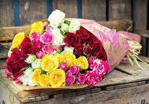 50 Roses £15.99 FREE Home Delivery with Home Bargains Flowers
