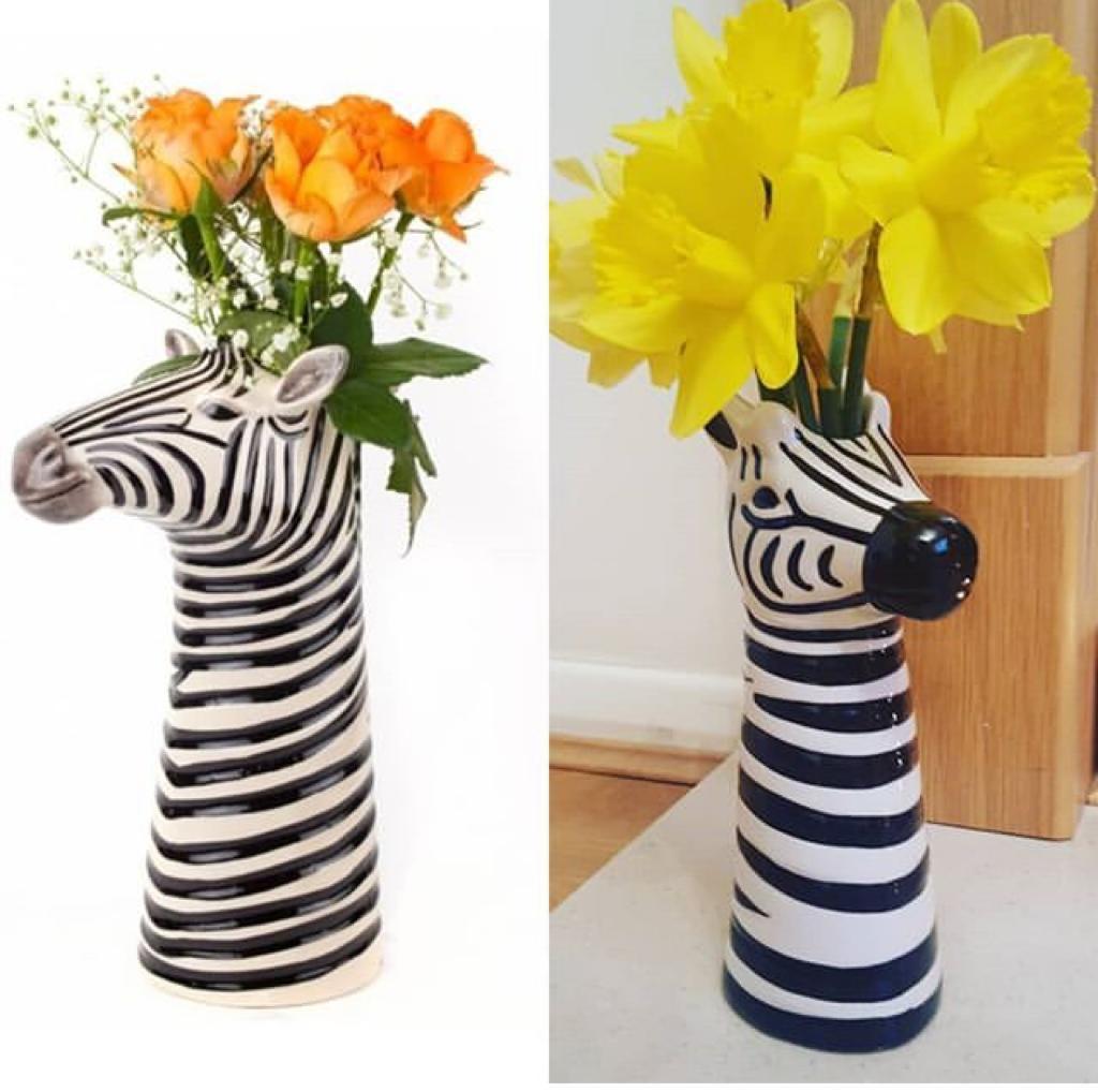 Copy of Quail ceramics zebra vase in Poundland. Seems national - £1