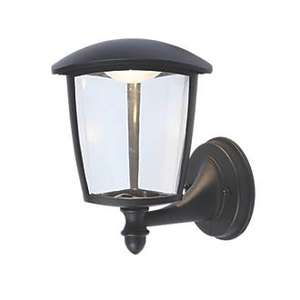2 X Lap 9 2w Black Led Outdoor Wall Light 300lm 163 4 99 163 2
