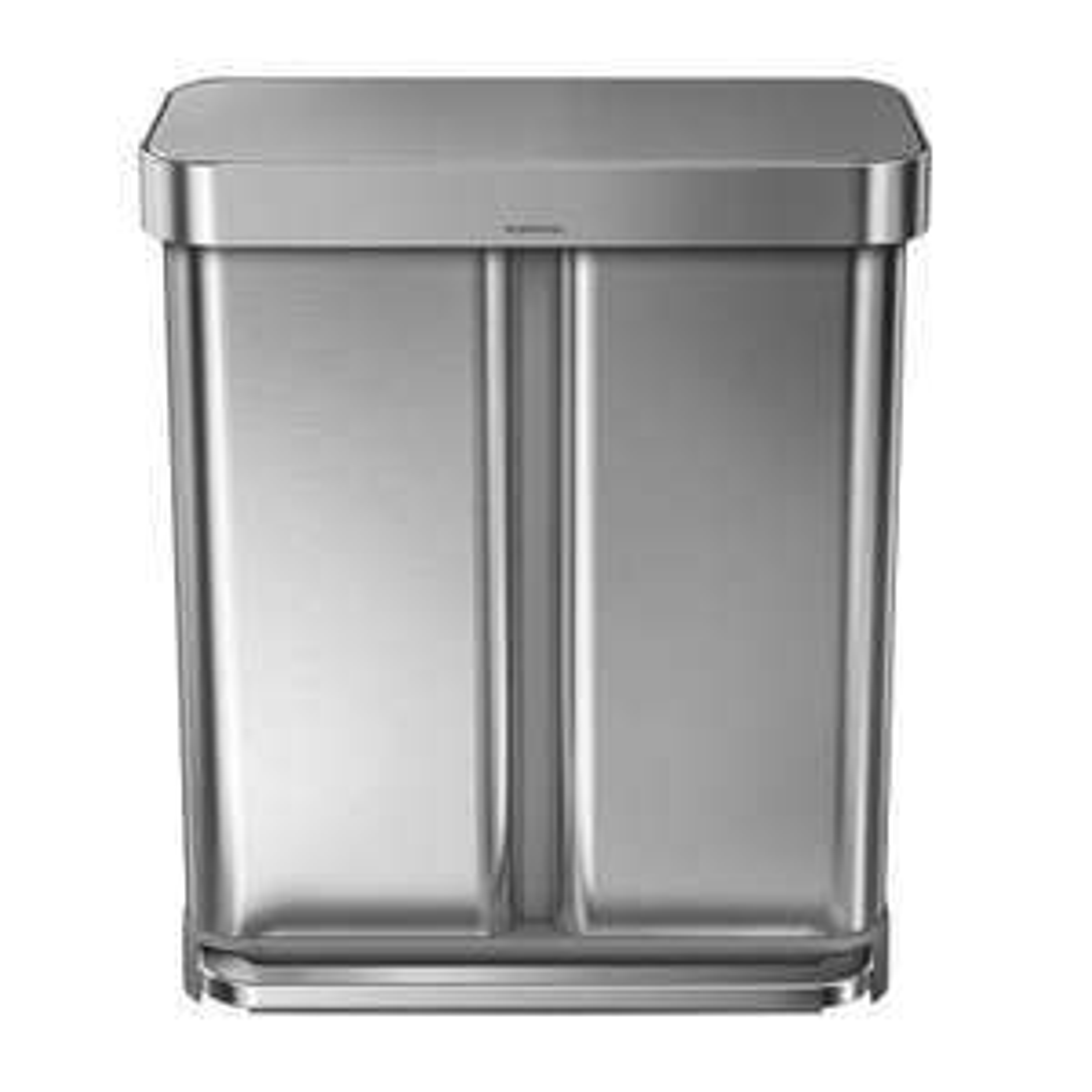 Simplehuman Rectangular Liner Pocket Recycling Bin, 58L, Silver £149 @ Housing Units