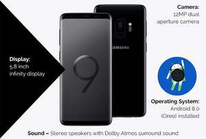 Samsung S9 - 3GB Data/1000Mins/Unltd Text @ £23 Per Month & £65 Upfront Cost with code on o2 £617 @ Mobiles.co.uk