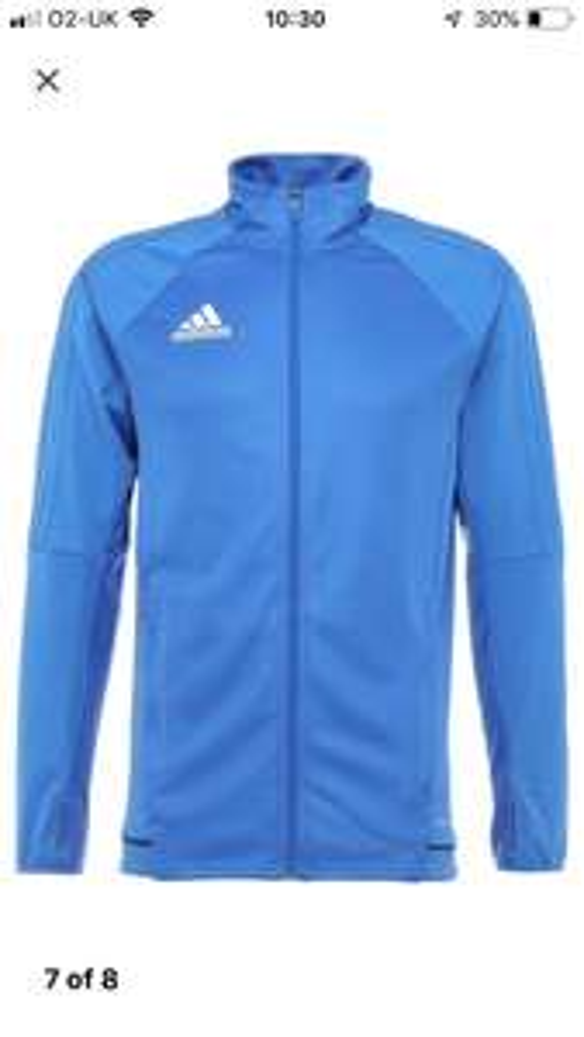 Adidas tiro 10 training jacket hoody £18 delivered at Zalando