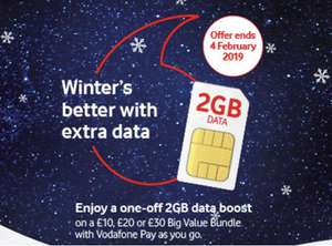FREE Vodafone Pay as you go SIM - £10pm with 4GB data (+£10 cash from Quidco.  Plus 2 x Odeon tickets for £7 any day of the week)