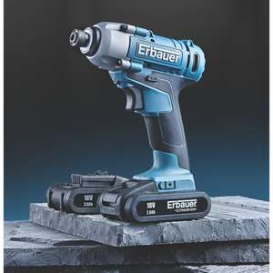 Erbauer ERI6041PD 18V 2.0Ah Li-Ion Cordless Impact Driver Kit for £59.99 delivered @ Screwfix (+2 Years Guarantee)