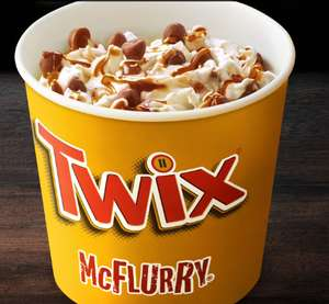 Twix Mcflurry  from 89p @ McDonalds