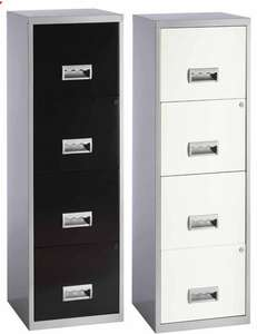 Pierre Henry A4 4 Drawer Maxi Filing Cabinet - Silver/White AND Siver/Black for £55.99 C&C W/C @ OfficeOutlet