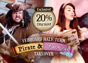 Pirates & Princesses Half Time break with hotel, breakfast, Extraordinary golf, Waterpark, Sea Life & more £107.20 / £26.80pp @ Alton Towers
