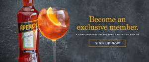 Free Aperol Spritz Cocktail at Browns Restaurants when you sign up to their newsletter.