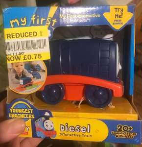 My First Thomas & Friends Interactive Train Set Toy now 75p at Tesco instore
