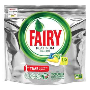 115 fairy platinum dishwasher tabs for £11.38 @ Costco Now Live