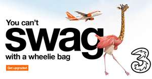 Three customers free cabin bags drop before security + priority boarding @ easyJet