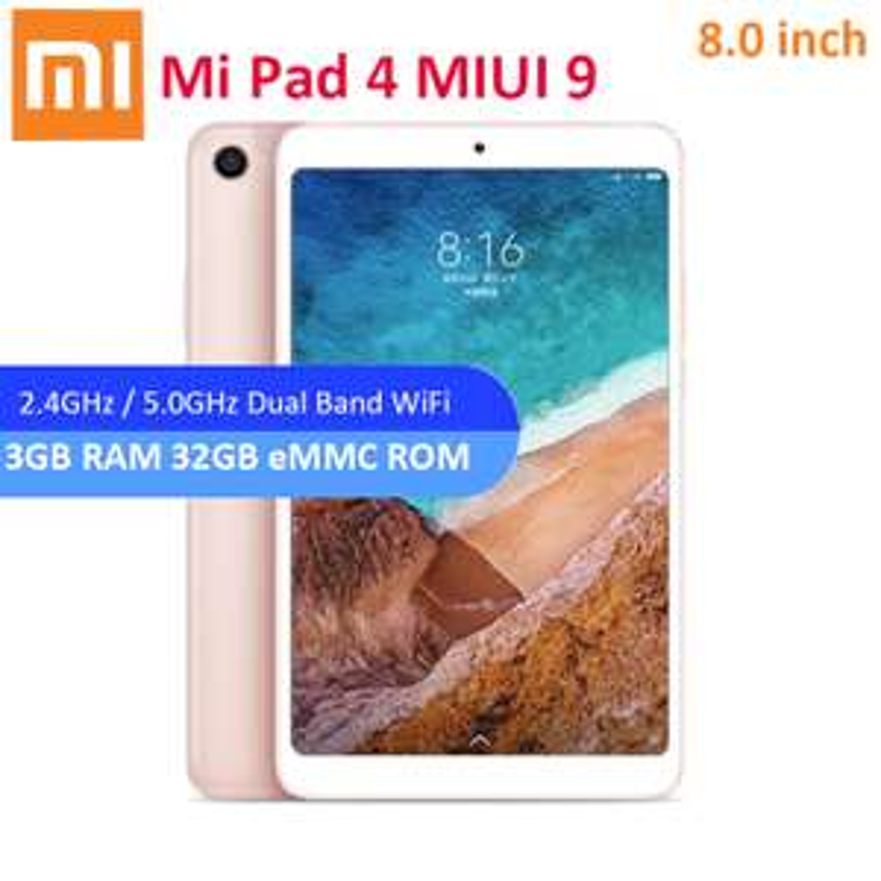 Xiaomi Mi Pad 4, Snapdragon 660, Face ID, IPS FHD, 3/32GB, 6000mAh = £123.95 @ Aliexpress