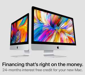 24 months interest free on apple computers @ Western Computers