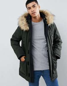 New Look traditional parka jacket in khaki was £54.99 now just £27 @ ASOS