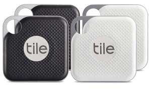 Tile Pro Series 4 Pack​ with Replaceable Battery Bluetooth (2 x Black, 2 x White) £67.49 (£16.87 each) delivered @ John Lewis & Partners