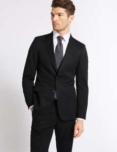 Marks & Spencer Big & Tall Charcoal Slim Fit Jacket £8.89 each! @ M&S